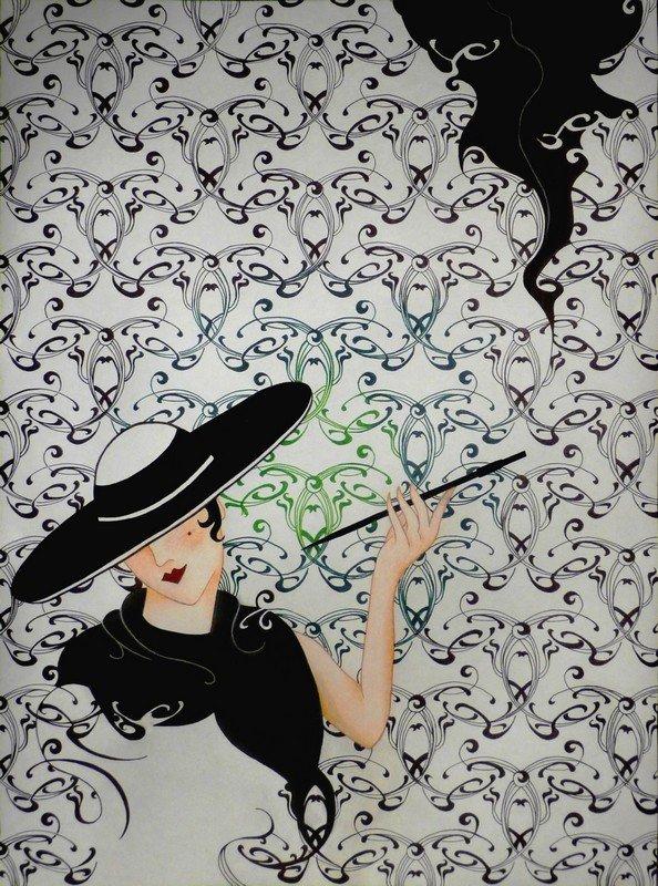 Art nouveau / Jugendstil. dans travaux plastiques dessin-courbes-contres-courbes-7